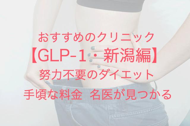 GLP-1・新潟編 おすすめのクリニック 努力不要のダイエット 手頃な料金 名医が見つかる