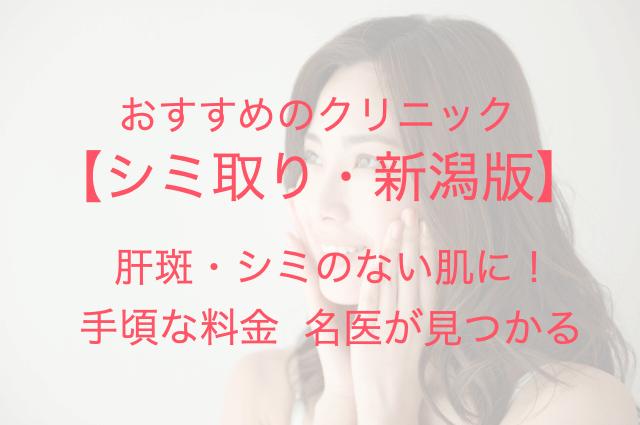 おすすめのクリニック【シミ取り・新潟】肝斑・シミのない肌に! 手頃な料金 名医が見つかる